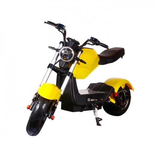Электроскутер ElectroTown Citycoco Bike (желтый)